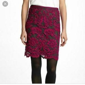 Anthropologie Embroidered Pencil Skirt 6